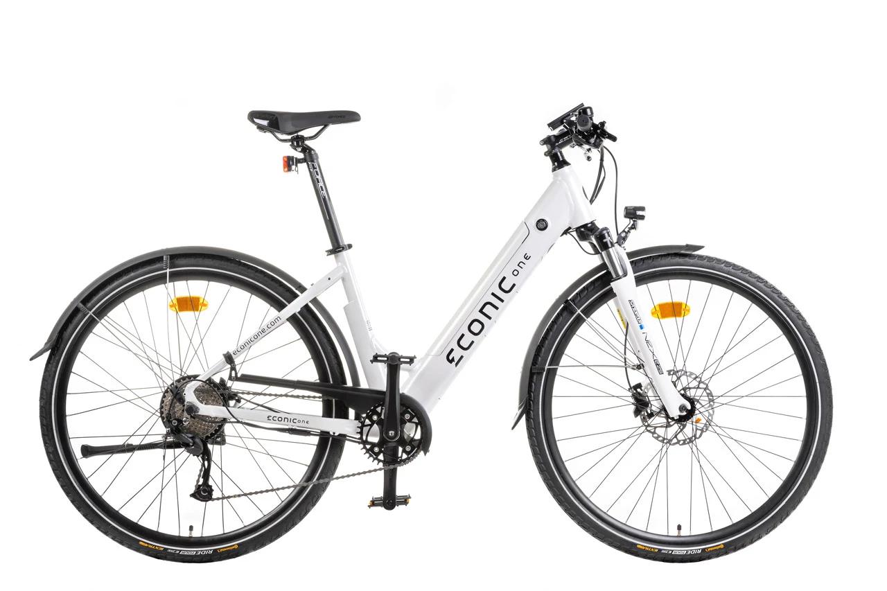 Sportieve Elektrische Fiets Dames Econic One Comfort M 44cm Wit