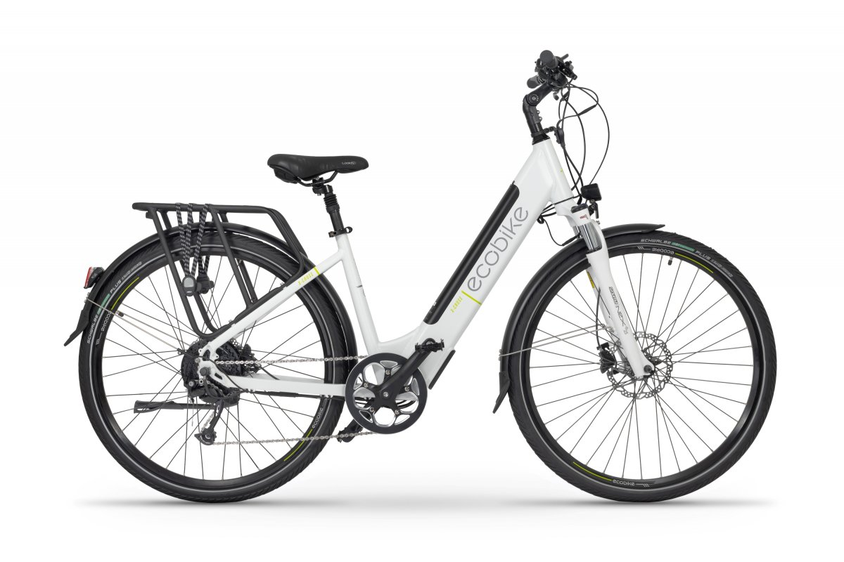Elektrische Dames Fiets 28 inch met lage instap Ecobike X-cross Wit 468Wh