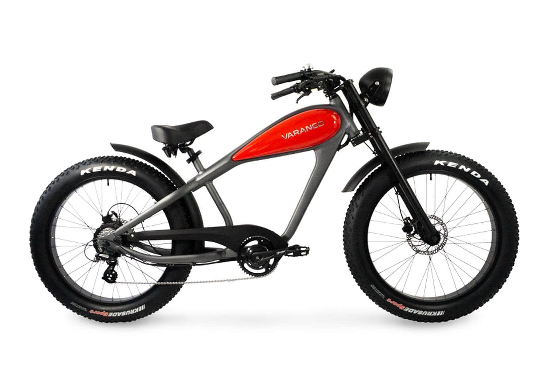 Elektrische Chopper fiets fatbike Varaneo Cafe Racer rood