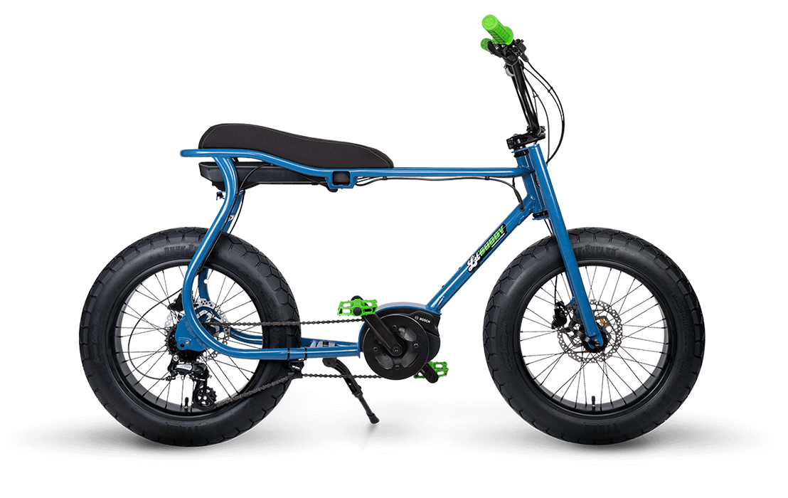 Ruff Cycles Retro Elektrische Fatbike Bosch Middenmotor Lil'Buddy 300Wh Blauw