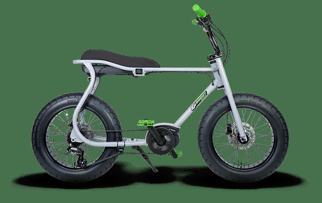 Ruff Cycles Retro Elektrische Fatbike Bosch Middenmotor Lil'Buddy 300Wh CX Grijs
