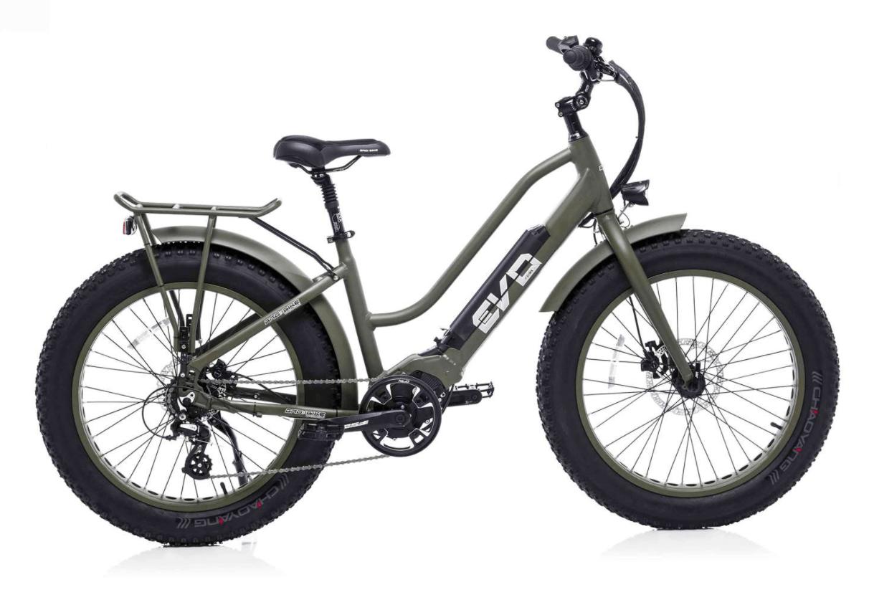 Elektrische Fiets Dames met dikke wielen Bad Bike EVO 250W Groen