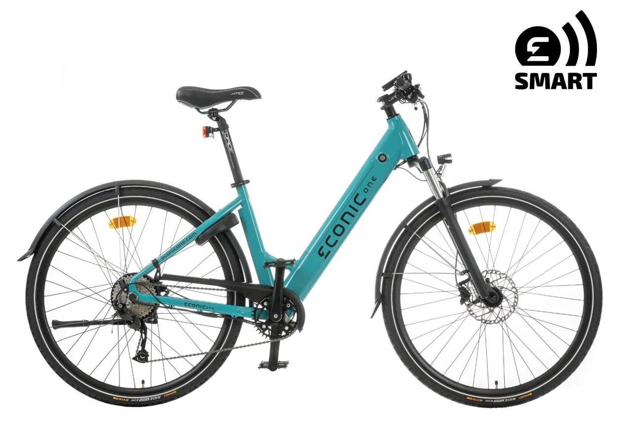 Sportieve Elektrische Fiets Dames Econic One Smart Comfort M 44cm Turquoise