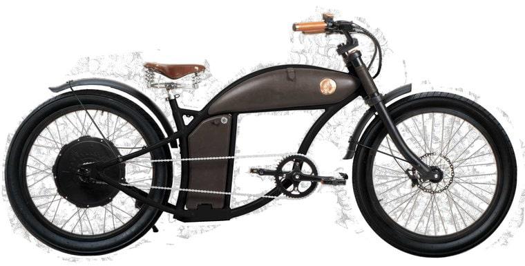 Rayvolt stoere elektrische chopper fiets Cruzer 45km/u zwart L Dual accu