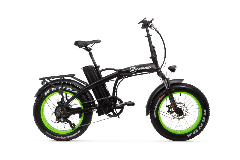 Elektrische fatbike vouwfiets Varaneo Dinky Sport mat zwart
