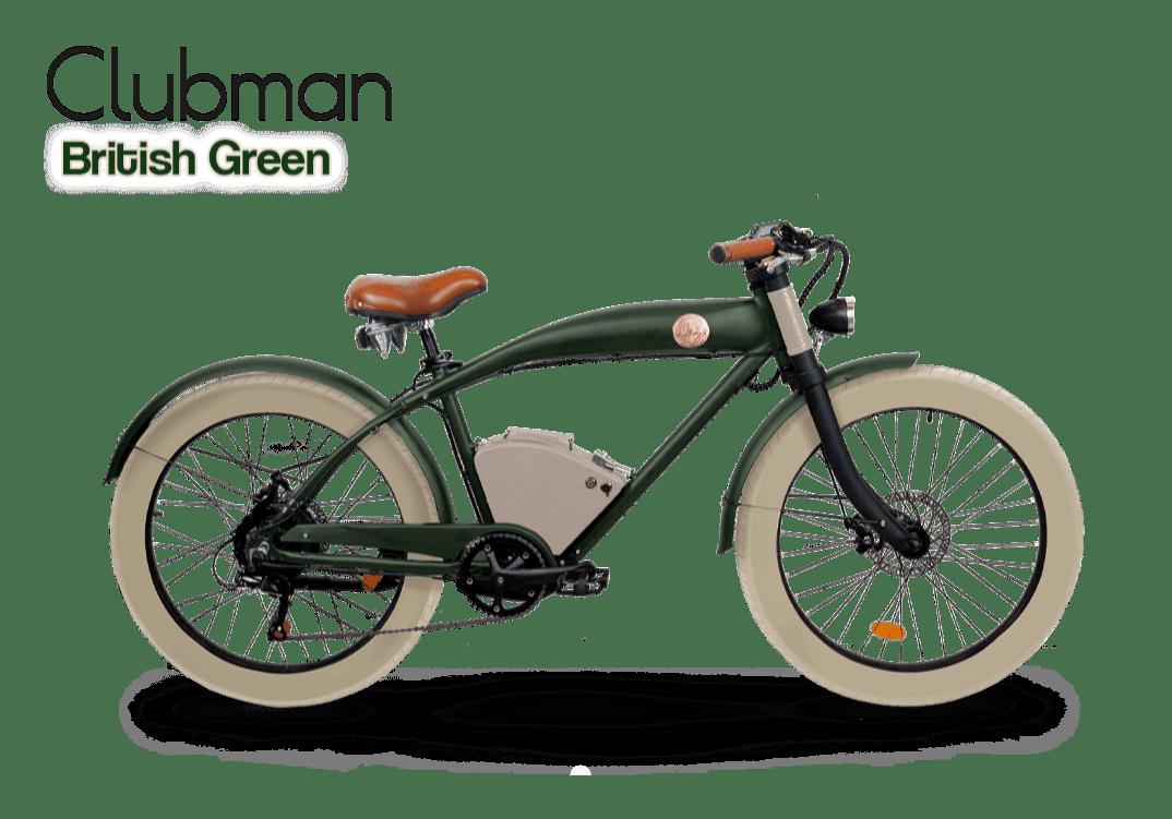 Rayvolt stoere elektrische fiets Clubman groen opgewaardeerde accu