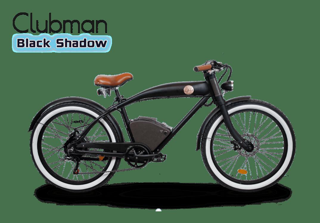 Rayvolt stoere elektrische fiets Clubman zwart standaard accu