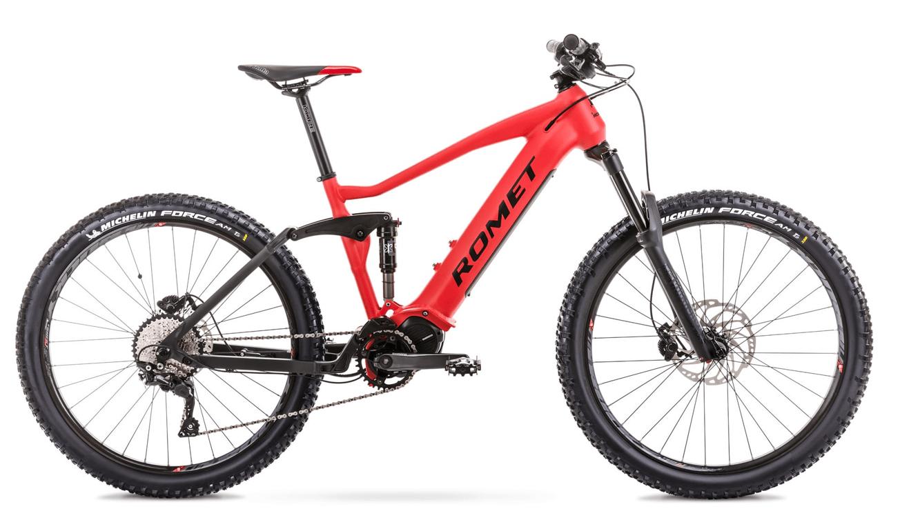 "Elektrische Mountainbike Fully Middenmotor Romet ERE 505 17"" Rood"