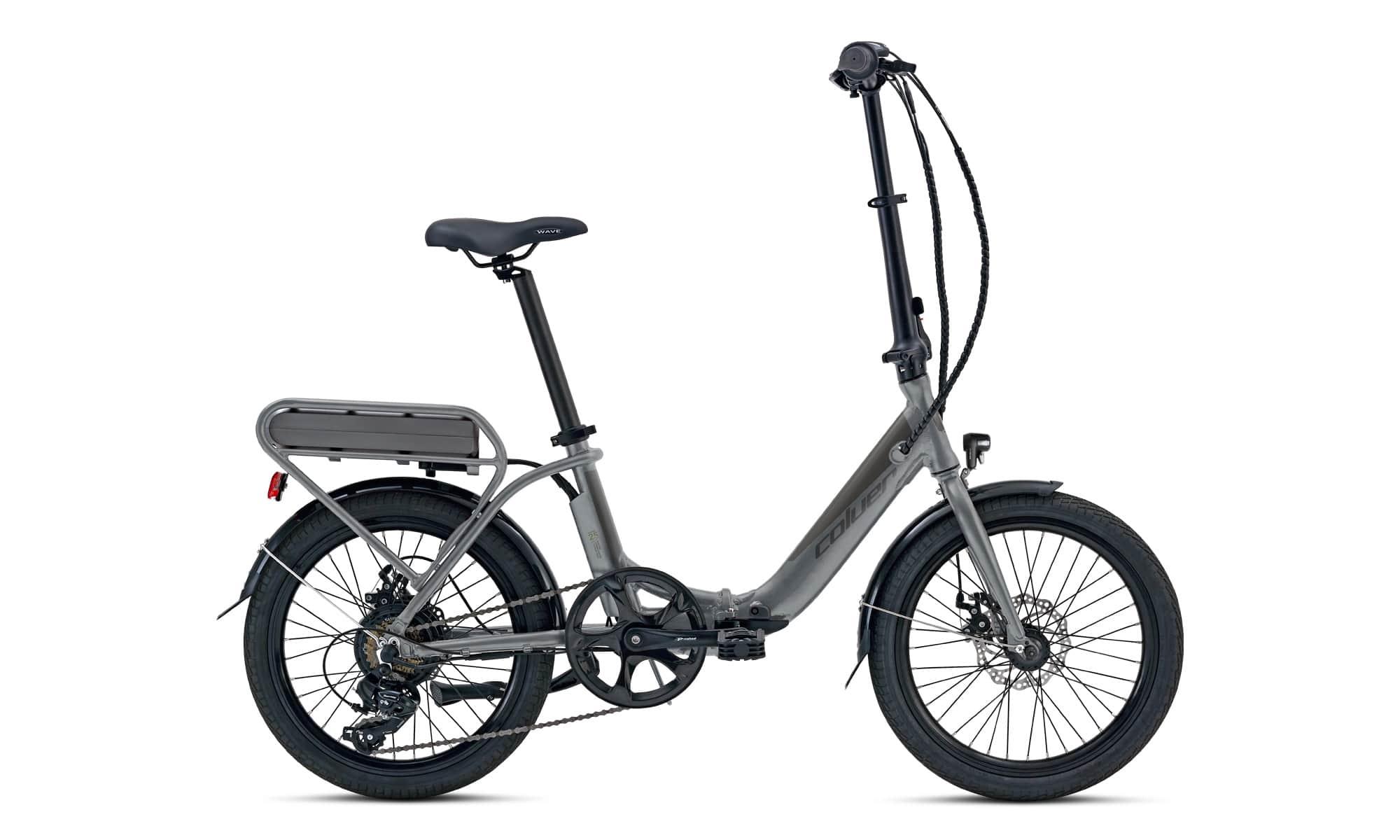 "Elektrische vouwfiets 20"" Coluer E-Transit Lover grijs"