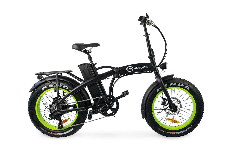 Elektrische fatbike vouwfiets Varaneo Dinky mat zwart