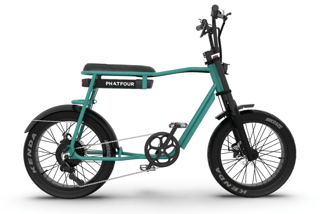 Retro Elektrische Fatbike PHATFOUR FLS+ Groen 470Wh