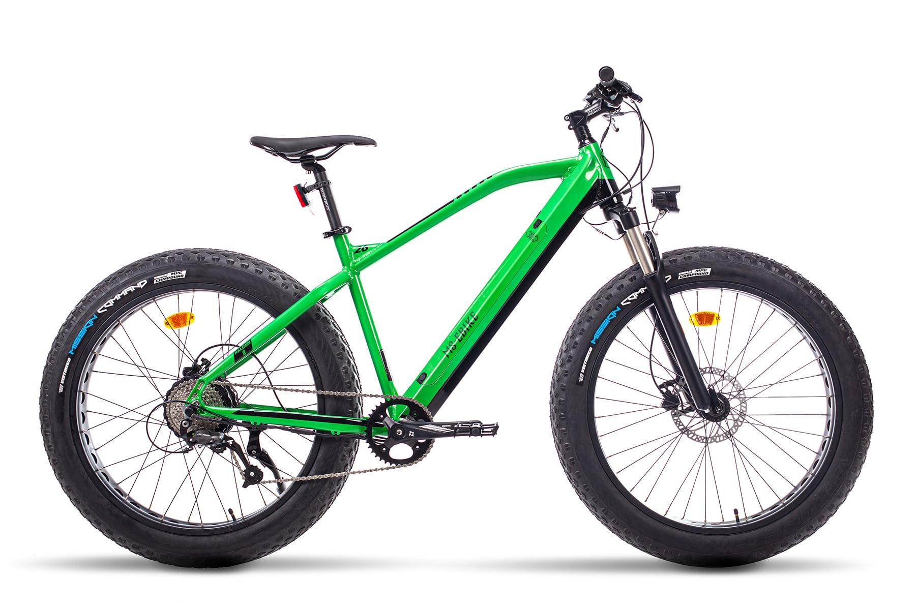 Elektrische Fatbike Mountainbike Falcon groen