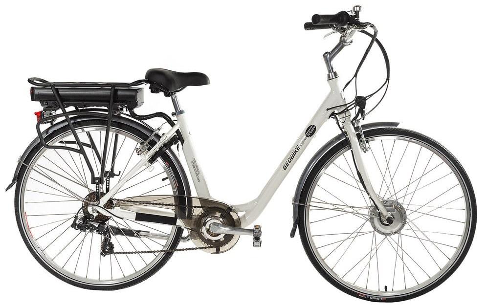 Slimme elektrische dames fiets Geobike Touring Fresh wit 374Wh